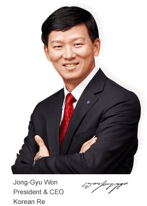 Korean Re CEO Jong Gyu Won (Photo courtesy Korean Re)