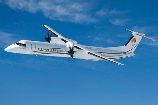 Built in Canada, the De Havilland Dash-8 is also known as the Q400. Photo courtesy De Havilland.