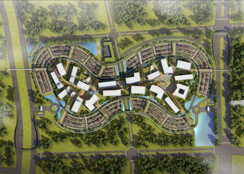 Aerial view of Zonamerica Cali's site plan rendering