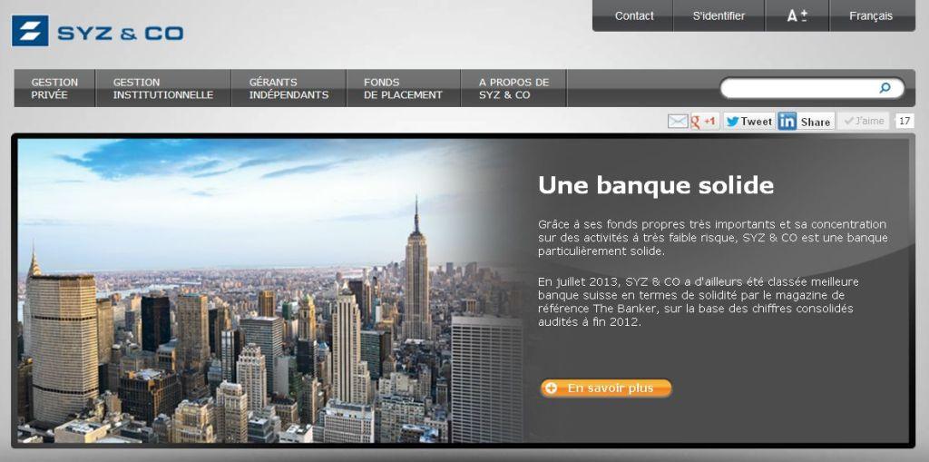 Finance Corner - Banque Syz