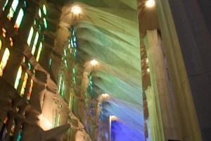 2014 12-December 27 (2120) Barcelona; Nave of the Sagrada Familia