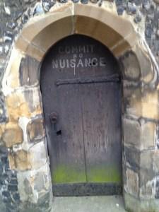 2013 04-April 5 (164) St Albans; Door @ base of tower