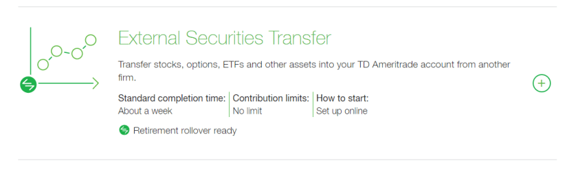 td external securities transfer
