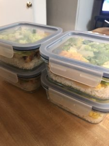 chicken and rice meal prep