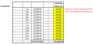 monthly dividend income constraints