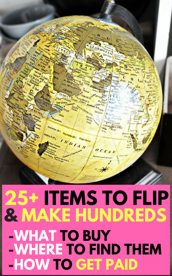 Buying items to flip is a smart way to make $1,000+ every month. We'll show you 25+ items, where to buy them, and how to sell them.