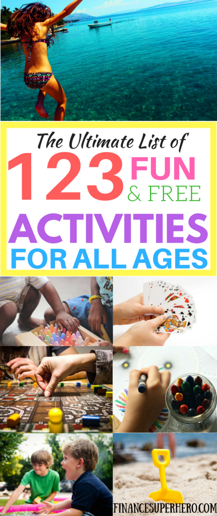 You want to have fun with your family, but it can be expensive! These 123 free activities will help you have many awesome no-spend weekends!