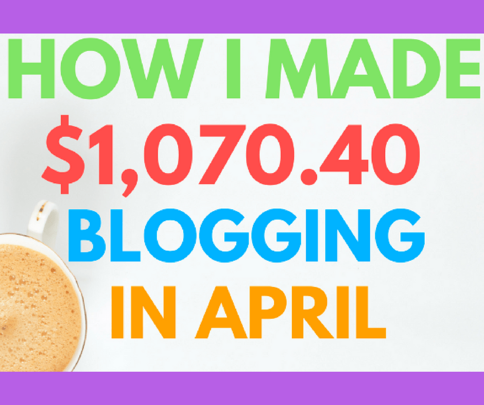 How do bloggers earn an income? In this report, I'll show you exactly how I made $1,070.40 in one month as a part-time blogger. I'll also share strategies I used to boost my blog traffic, increase my affiliate income, and add new subscribers to my email list.