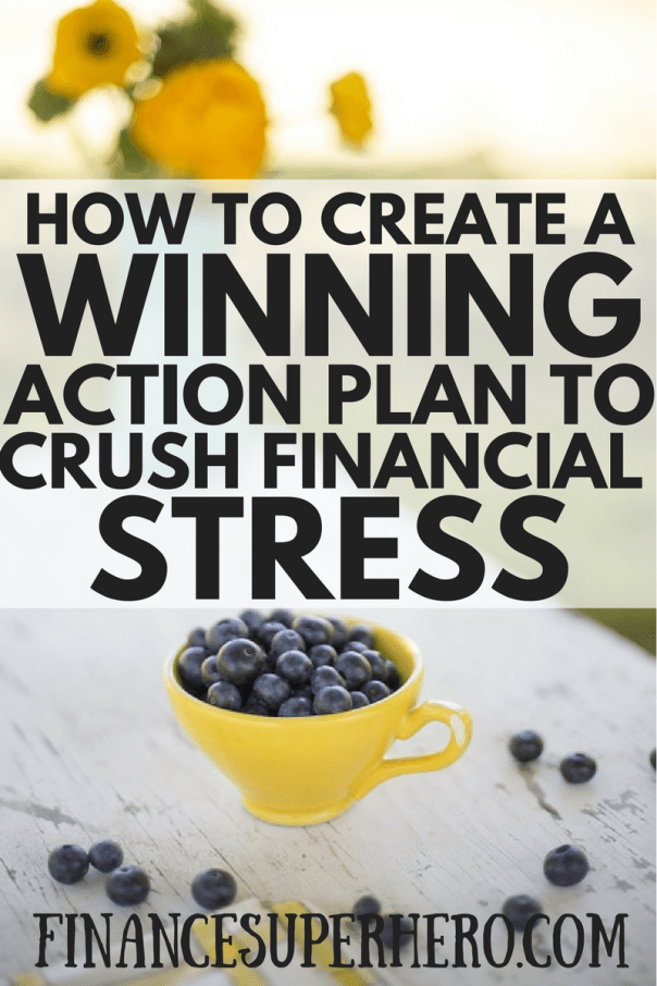 Money is the leading cause of stress in the world today. You can reduce your financial stress by creating a winning action plan today! This guide is a quick read and the steps described take only minutes to complete.