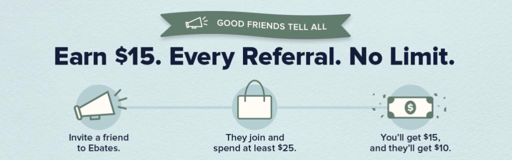 Ebates referrals - free money tools