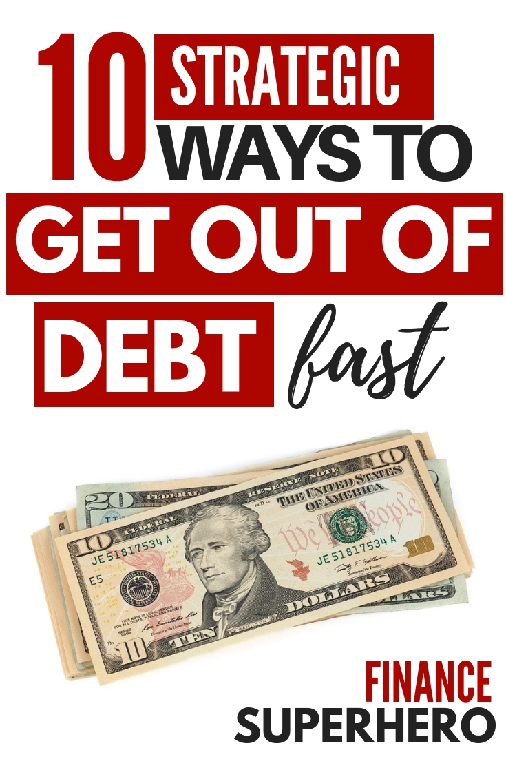 Whether it's credit card debt, student loans, or other loans, debt can be a serious money problem. These 10 simple ways to get out of debt fast have helped countless families attack and payoff their debt quickly. #debt #studentloans #moneytips #payoffdebt #getoutofdebt