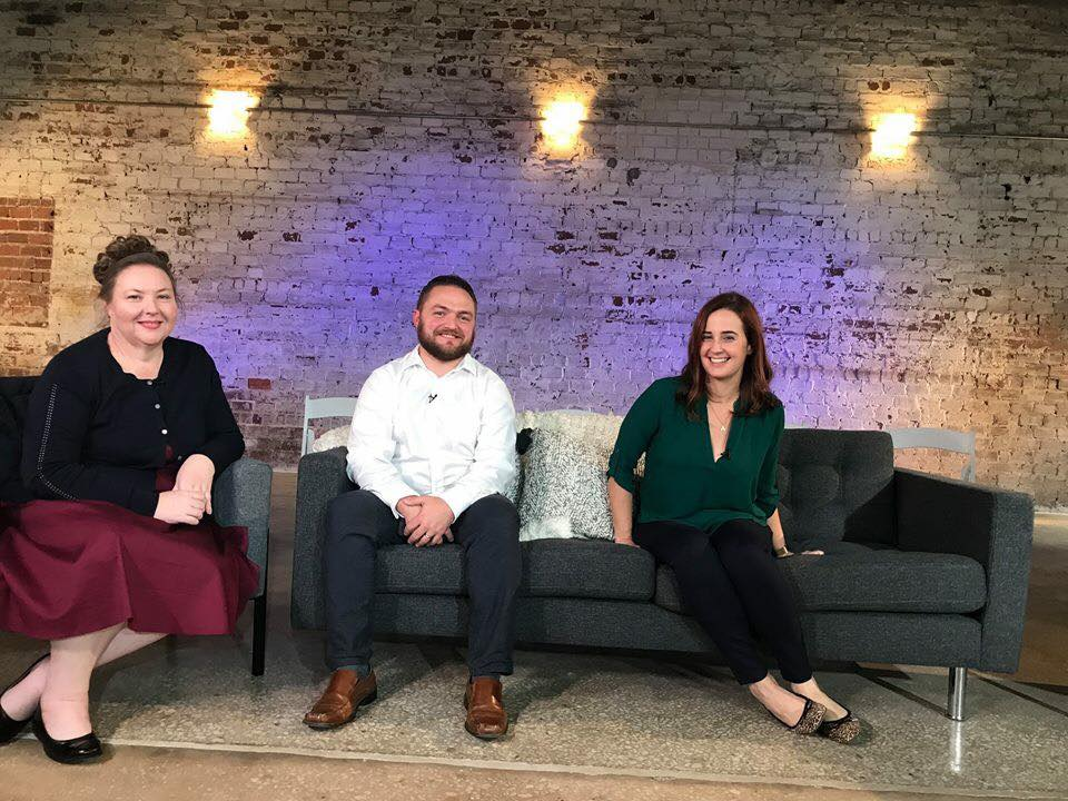 Jennifer Marx, yours truly, and JoAnn Crohn on the set of EBA 4.0