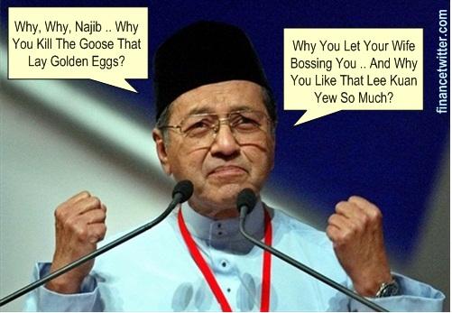 Mahathir Blame Najib