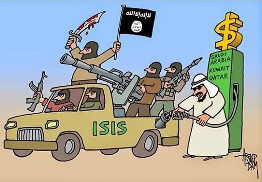 Image result for cartoons qatar, saudi arabia terrorism