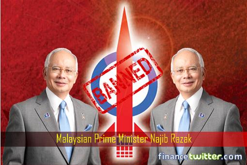 Prime Minister Najib Razak - Banning Opposition DAP Rocket