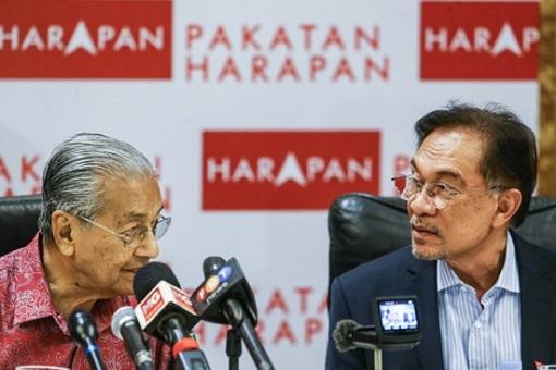 Mahathir Mohamad and Anwar Ibrahim - Pakatan Harapan