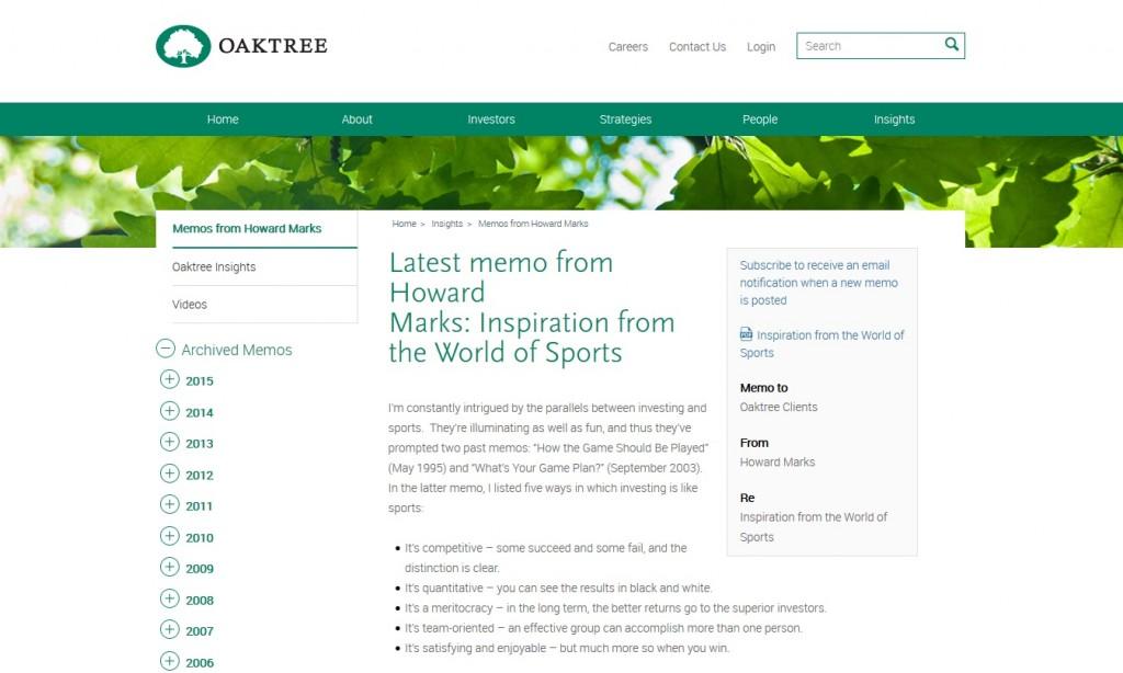 Oaktree Howard Marks