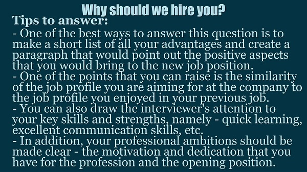 why should we hire you information