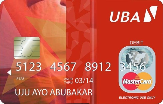 UBA Mastercard CLASSIC with fake BINS