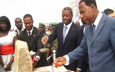 Les présidents du Togo, Faure Gnassingbé, et du Bénin, Thomas Boni-Yayi