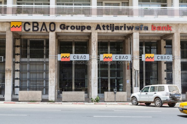Dakar, Senegal.  CBAO Bank, Banking Company of West Africa (Compagnie Bancaire de l'Afrique Occidentale), a private bank based in Senegal.