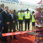 Atterrissage du vol inaugural de la Turkish Airlines à l'aéroport de Conakry
