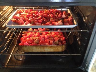 roasting 2 trays