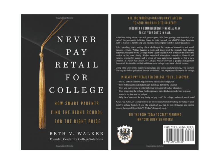Never Pay Retail for College