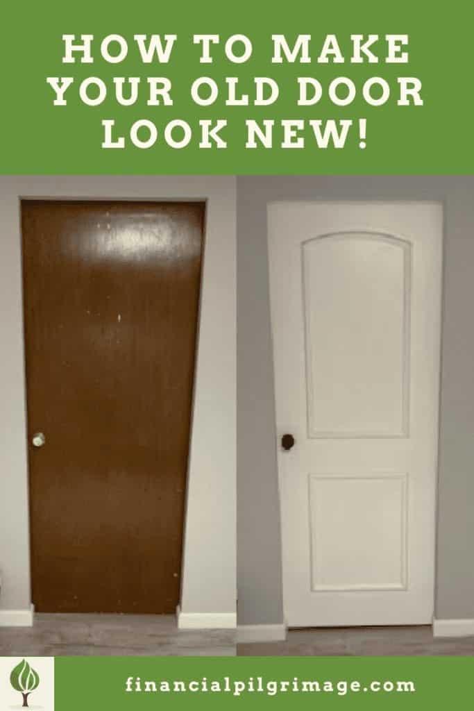 how to make an old wood door look new
