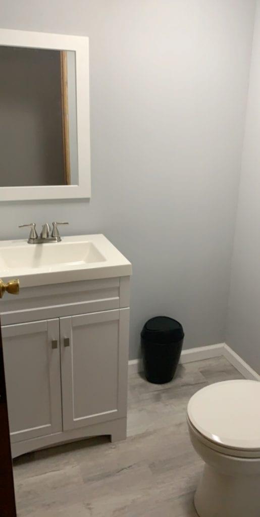Basement bathroom after the basement remodel