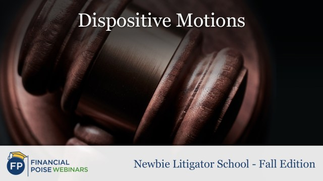 Dispositive Motions 19 - Financial Poise