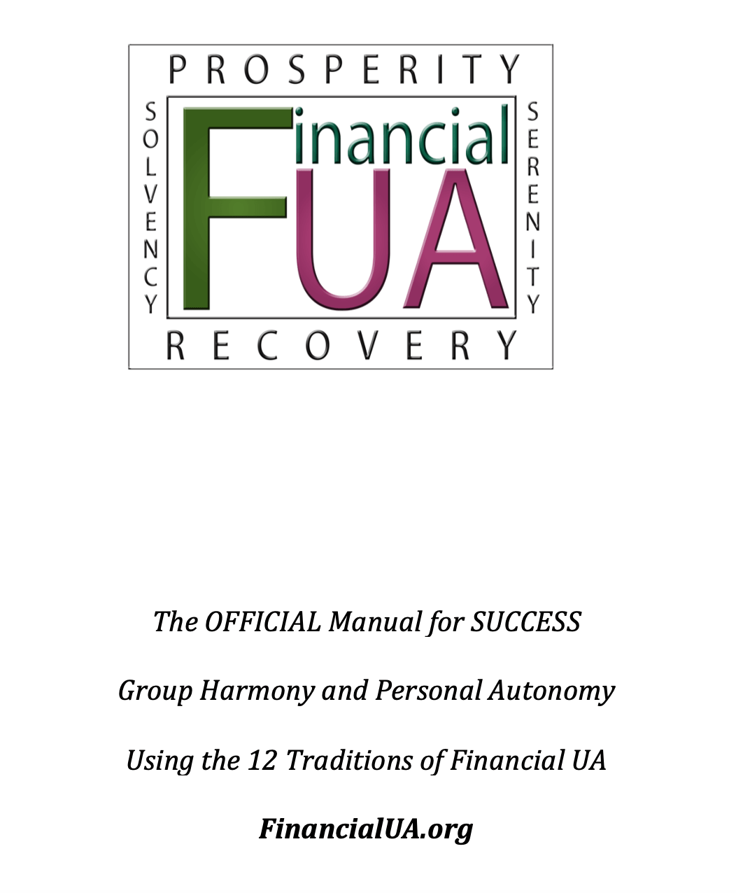 Financial Ua 12 Tradition Workbook Part 1 The Official