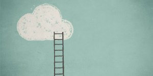 Illustration of a cloud and a ladder