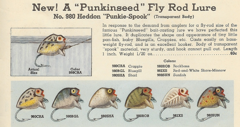Heddon Punkie Spook Lure Catalog Page