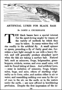 Artificial Lures for Black Bass