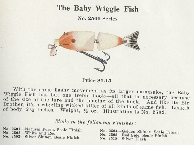 Creek Chub Baby Wiggle Fish Lure 1931 Catalog