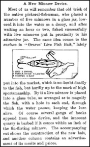 Welch Graves Minnow Tube Article 1893