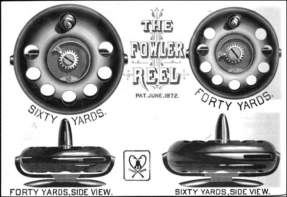 Fowler Reel Ad from 1884