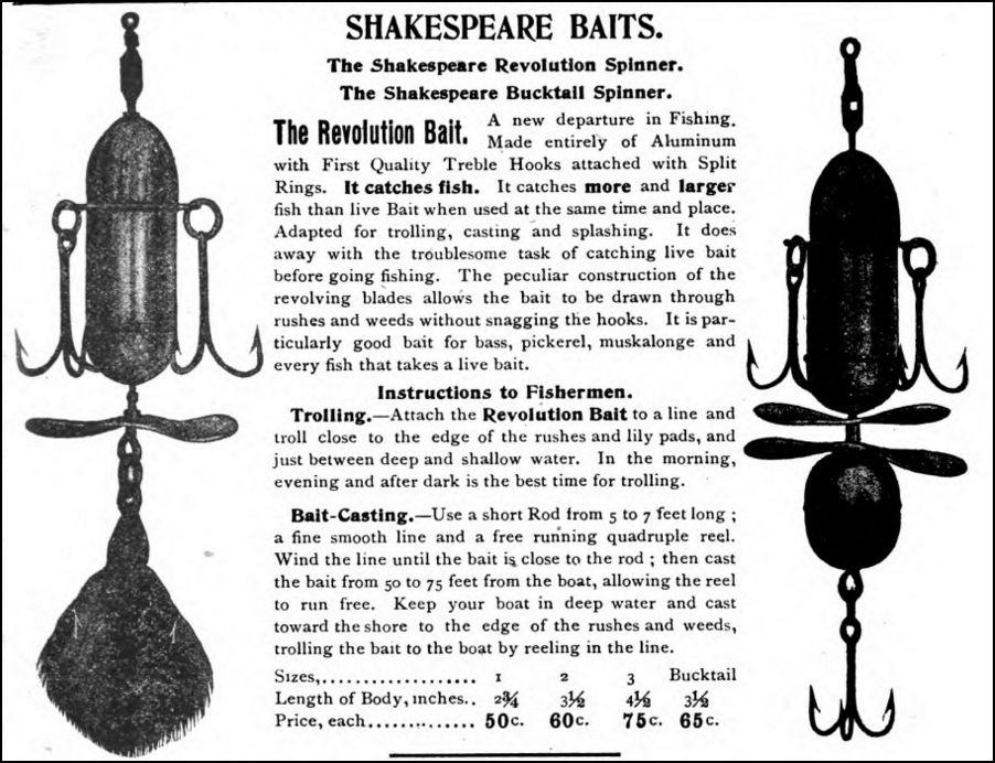 Shakespeare Antique Lure Revolution HH Kiffe 1903