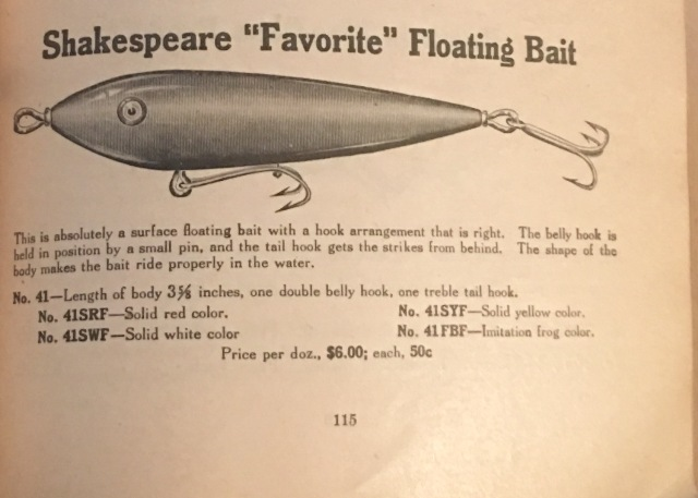 Shakespeare Floating Bait Lure Ad