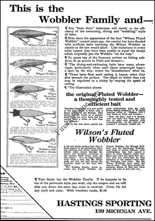Wilson Wobbler Family Ad 1919 Outdoor Recreation
