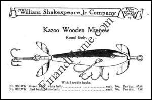 Shakespeare Kazoo Minnow Lure Ad