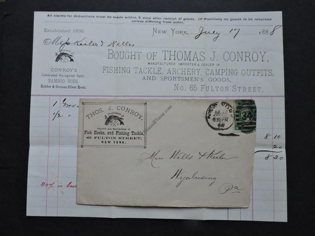 1888 Thomas Conroy Billhead