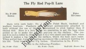 Creek Chub Pop It Fly Lure Catalog