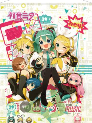 Vocaloid - Hey! Piapro characters - Hatsune Miku wall scroll