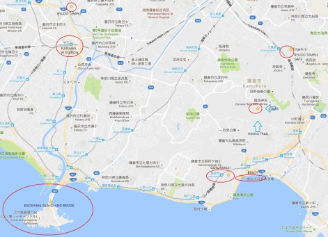 Elfen Lied Enoshima pilgrimage map