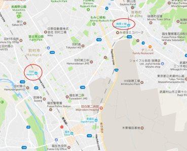 Clannad Hakonegasaki pilgrimage map