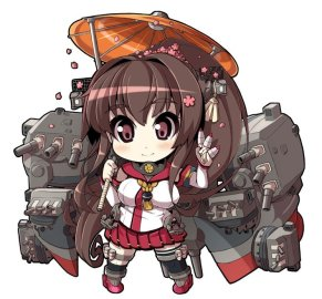 Kantai Collection Yamato chibi illustration