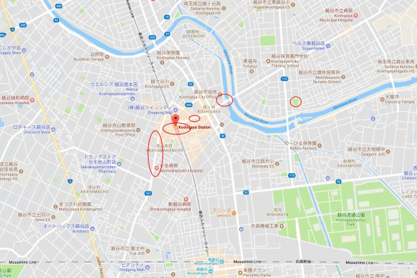 Miss Kobayashi's Dragon Maiden Koshigaya map