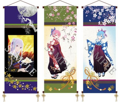 Hanging scroll Re:Zero − Starting Life in Another World wall scroll set